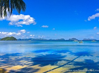 View from Corong Coron Beach by Day
