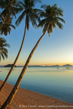 Idillic sunset in El Nido, Philippines