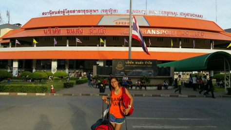 Out the front of Mo Chit bus terminal in Bangkok