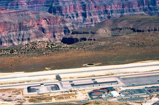 The terminal of the Grand Canyon Airport on the edge of the Canyon's rim