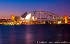 Dusk on Sydney Harbour, Australia