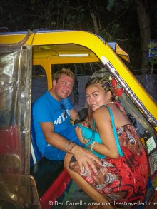 Getting a local 'Trike' in Boracay