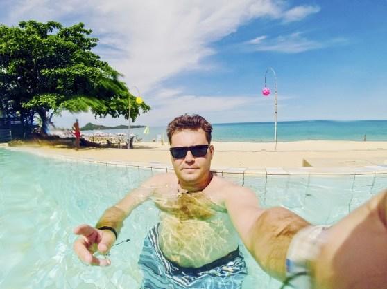 Swimming in Koh Samui, Thailand