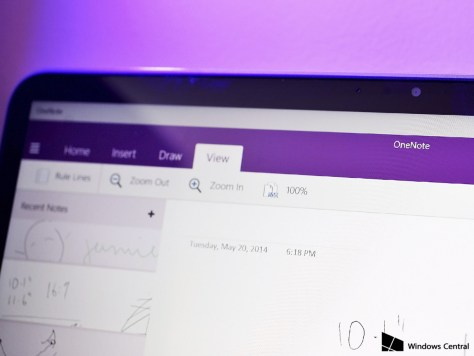 Microsoft's OneNote 'Touch' version is simple and great to use on a touch-screen with a stylus. If you want something more, you can also launch the full desktop version.