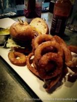 San Francisco burger & onion rings