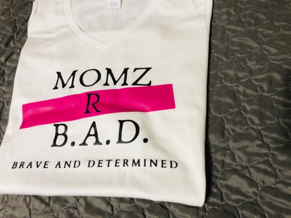 Momz R B.A.D. T-Shirts- black, pink and white in the Momz Shop Store