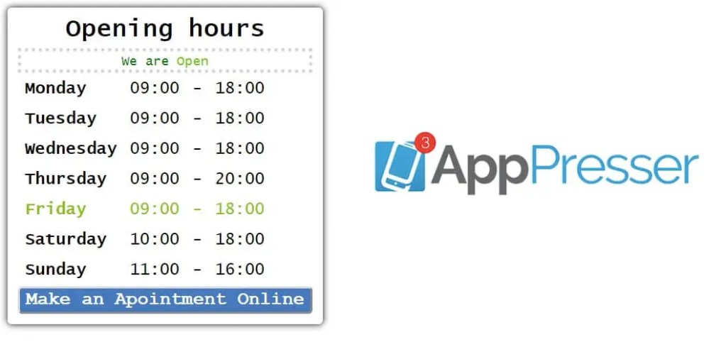 Appency Apppresser custom page