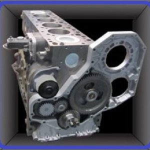 Dodge 5.9L short block engine