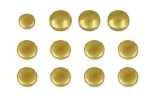 Freeze plugs, Brass