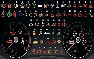 vehicle dashboard light symbols