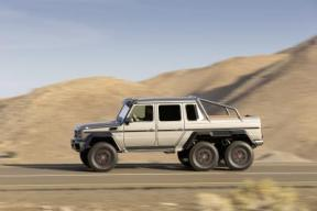 This side view shows off the unique and impressive architecture of the G 63 AMG
