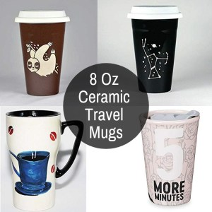 8 Ounce Porcelain To Go Tumblers