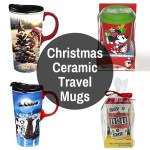 X-Mas Porcelain Travel Tumblers