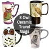 Ceramic To Go Tumblers With Owls