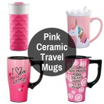 Pink Porcelain To Go Tumblers