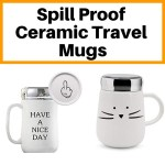 Leak Proof Ceramic Travel Mugs