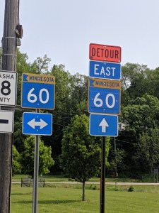 Highway 60 Detour to Highway 63