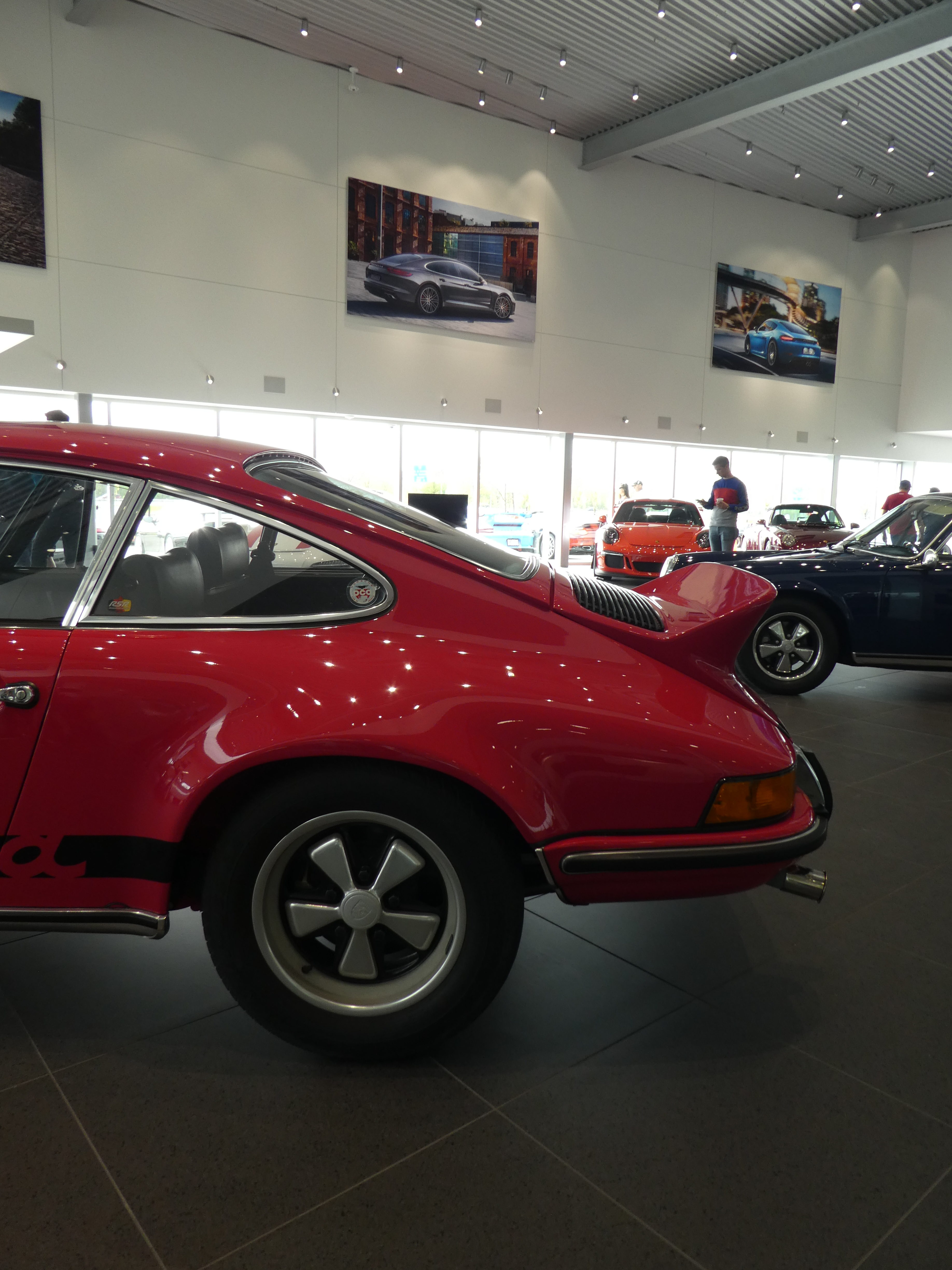 Porsche Carrera 2.7 RS on Porsche&Coffee at Porsche Rive Sud Montreal for Road Rug Cars RoadRugCars Galiffi Brothers Cars