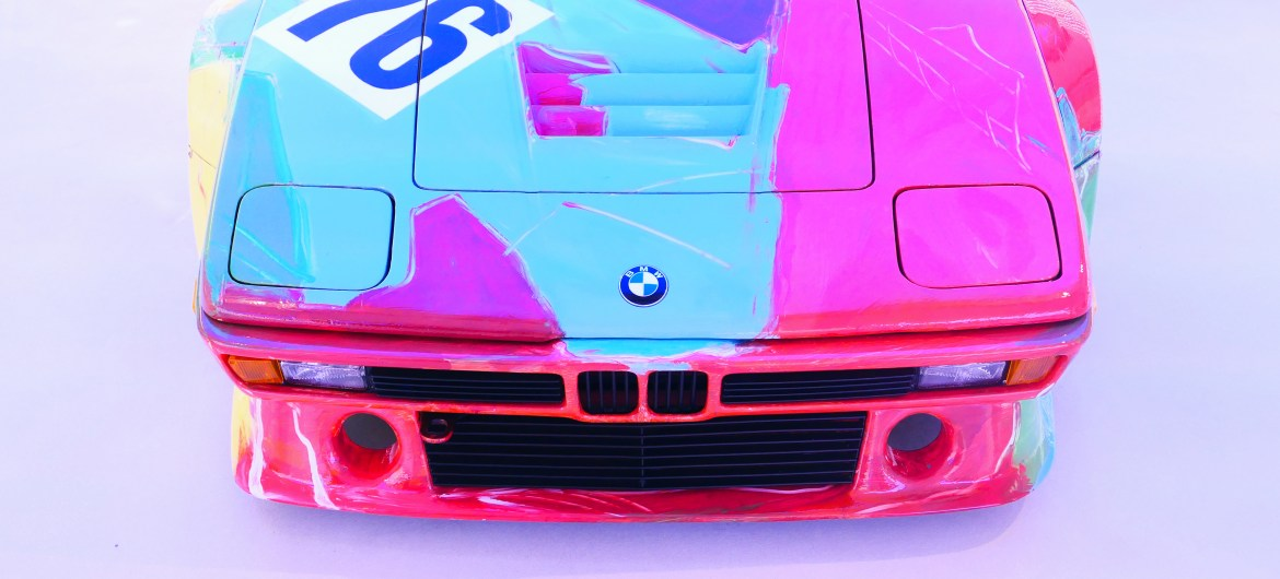 front face Andy Warhol M1 bmw art cars road rug cars roadrugcars brothers car voiture auto automobile car vintage car classic car race car