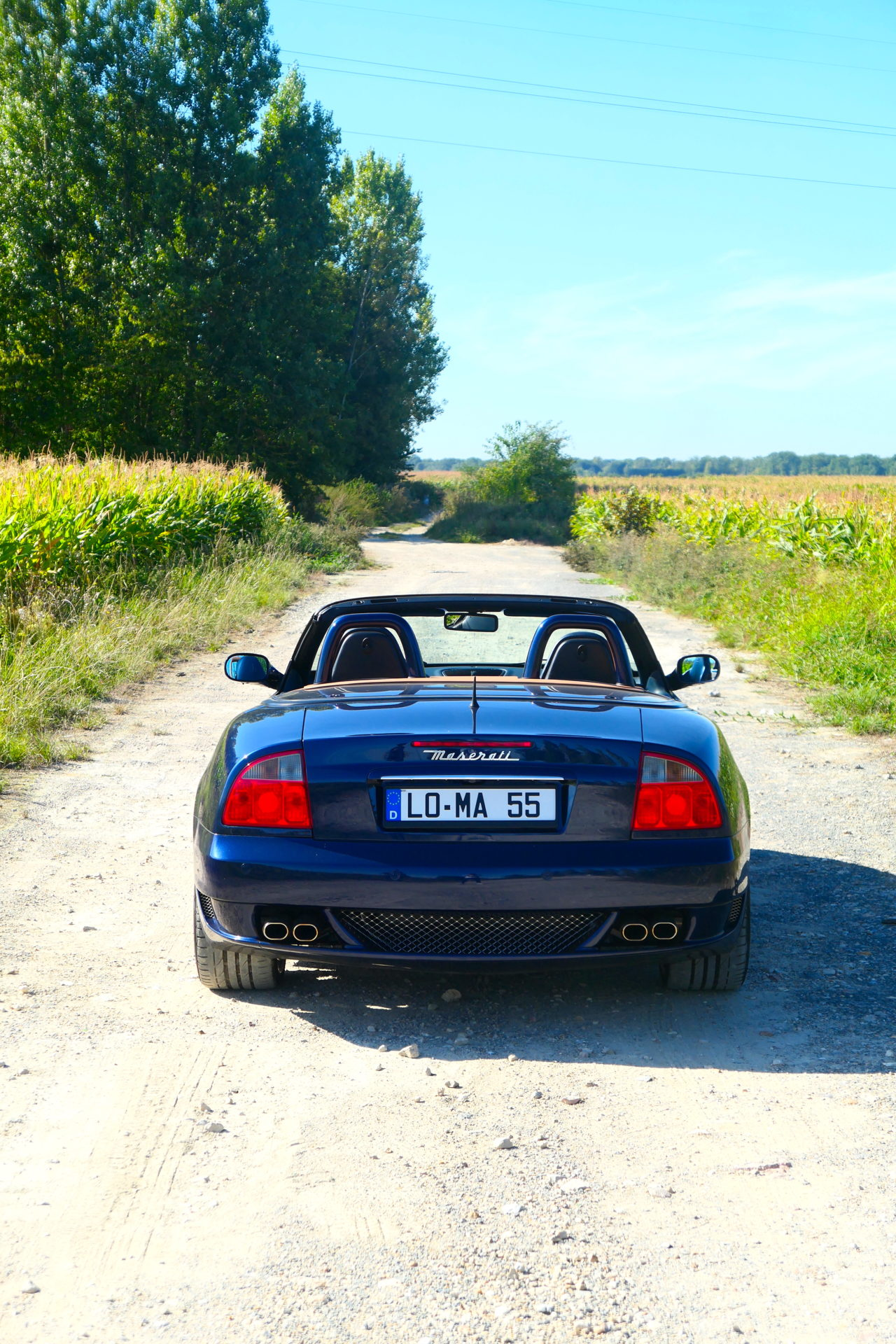 roadrugcars road rug cars maserati gransport spyder rear