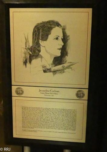 Jackie Cochran, Museum of Aviation, Warner Robins, GA