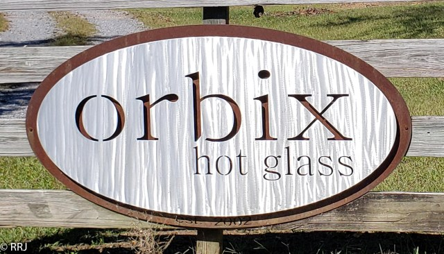 Orbix hot glass sign