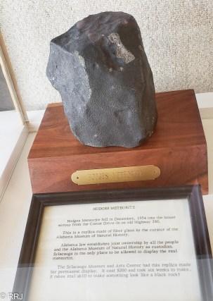 Hodges Meteorite at Comer Museum in Sylacauga Alabama