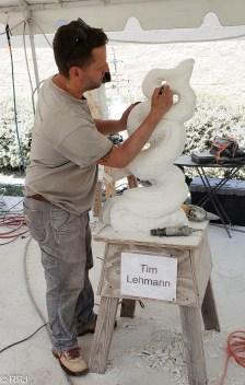 Tim Lehmann sculpts at Magic of Marble Festival Sylacauga Alabama