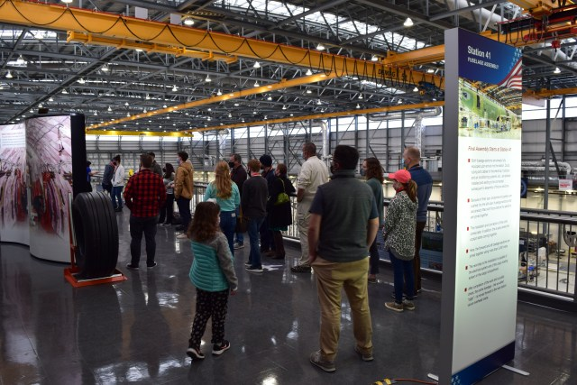 the viewing platform, Airbus final assembly line tour mobile alabama