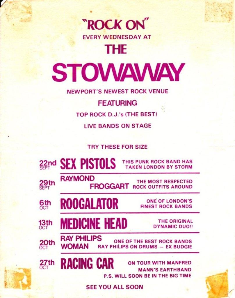 Sex Pistols at the Stowaway Club