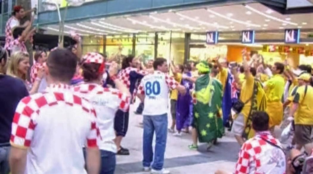 Australia and Croatia fan banter