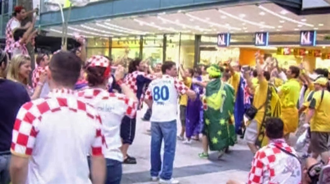 Australia and Croatia fan banter