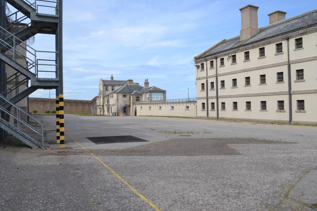 Peterhead Prison yard