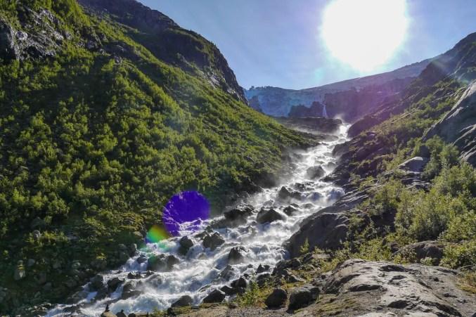 Wasserfall am Buarbreen