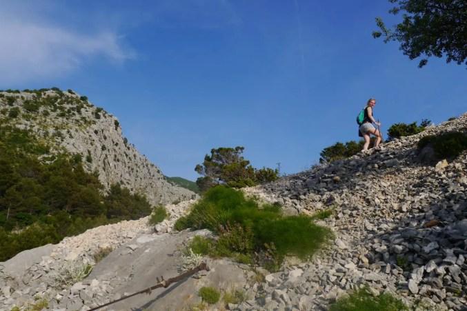 Steiler Anstieg zur Festung Starigrad