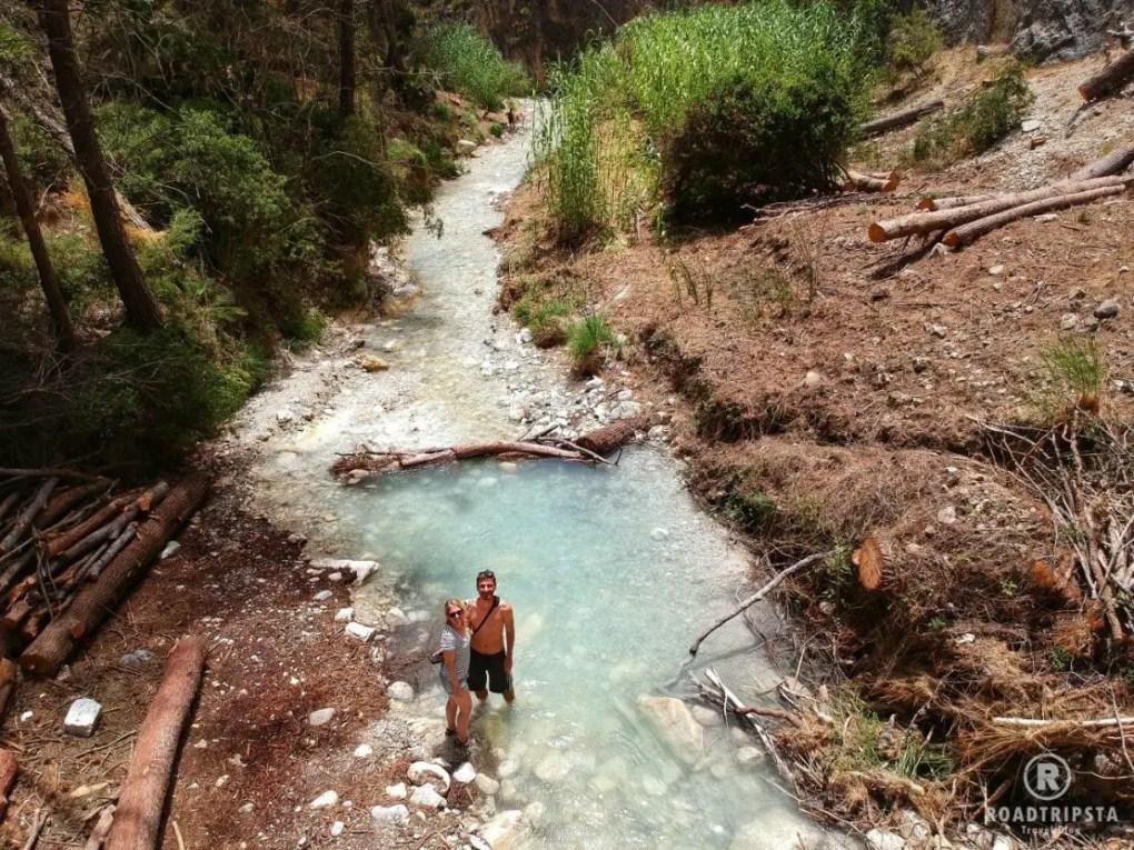 Rio Chillar Flusswanderung Drohne