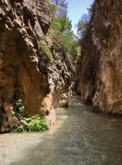 Rio Chillar, Andalusien Flusswanderung