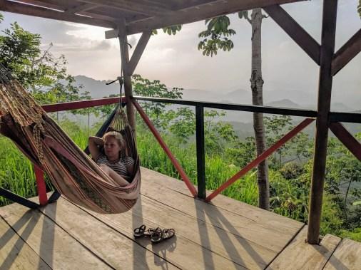 Hängematte in Minca, Kolumbien