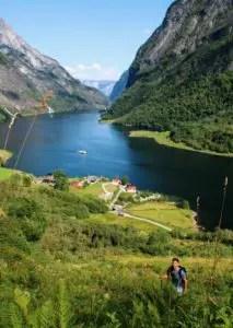 Naeroyfjord Rimstigen Wanderung, Norwegen