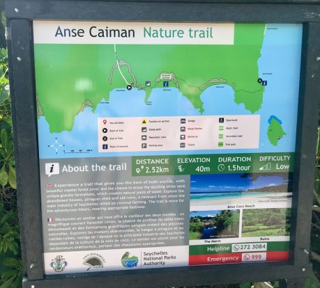 Wanderkarte Anse Caiman Trail