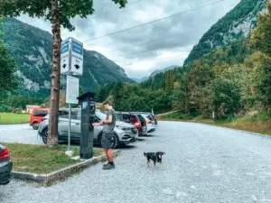 Parkplatz zur Bluntausee Wanderung