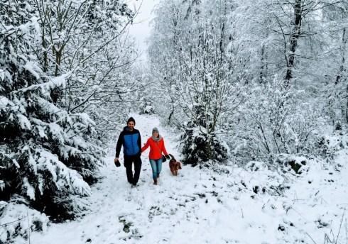 Schnee im Hunsrück - Wanderung