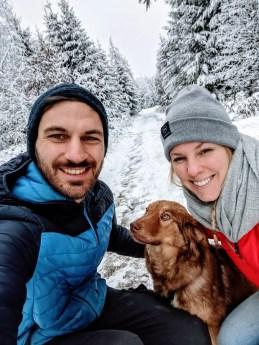 Schnee Wanderung Hunsrück