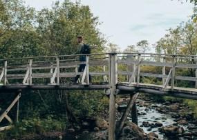 Brücke über dem Sylteeva Bach