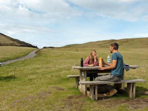 Mittagspause auf Island