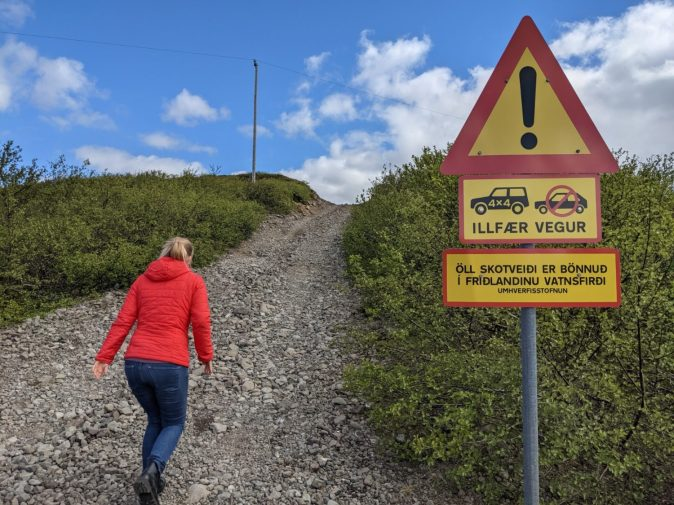 Westfjorde Island Straße Allrad