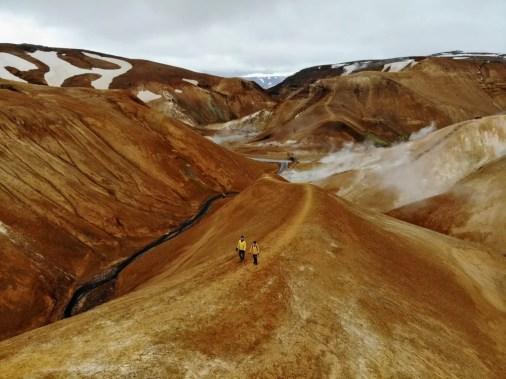 Kerlingarfjöll Hveradalir Geothermalgebiet Island per Drohne