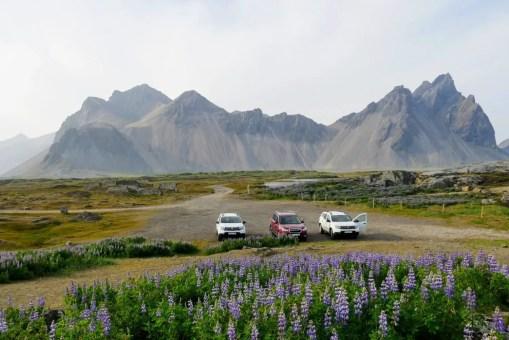 Parkplatz an der Südspitze von Stokksnes