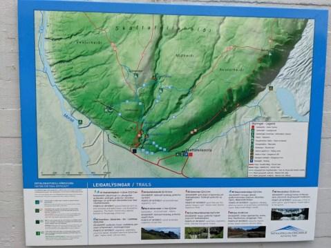 Skaftafell Nationalpark Wanderkarte