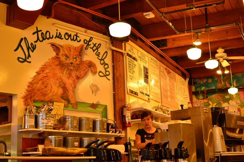 The tea is out of the bag at the Crumpet Shop in Pike Place Market, Seattle
